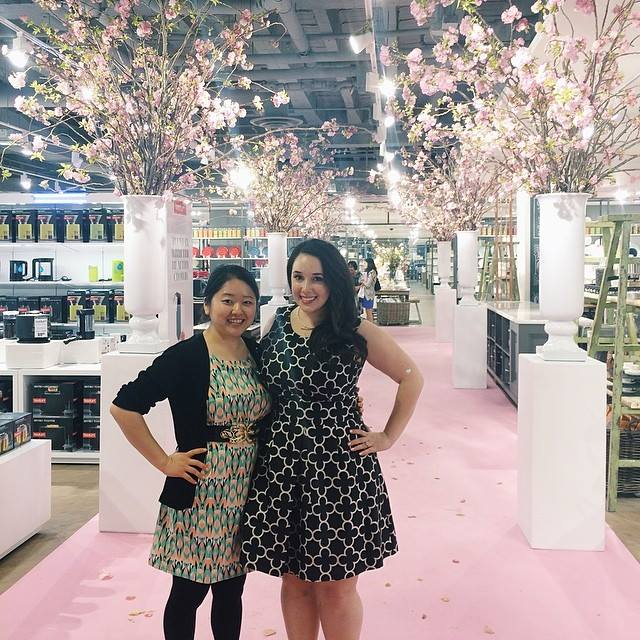 Kleinfeld Canada Launch - Stephanie Fusco & Stella Lee pink carpet