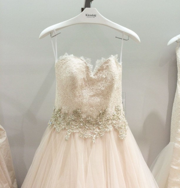 Kleinfeld Canada launch party- Danielle Caprese blush tulle ball gown