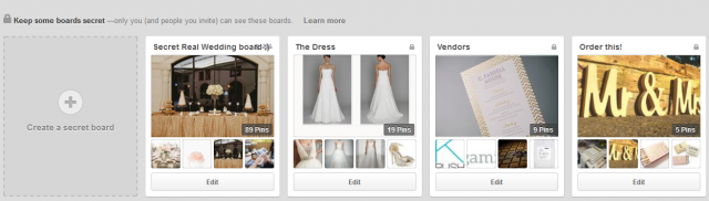 Wedding Organization Tips - Secret Pinterest Boards