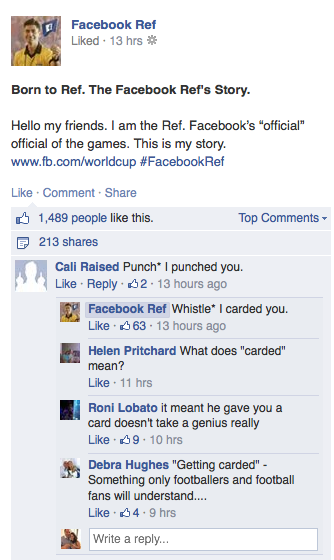Facebook Ref replies World Cup