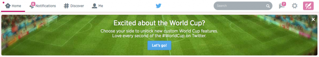 Twitter World Cup Banner