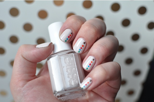 Essie Summer 2014 Collection - DIY polka dot nails