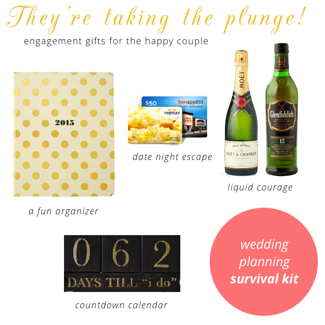 engagement gift - Wedding Planning survival kit