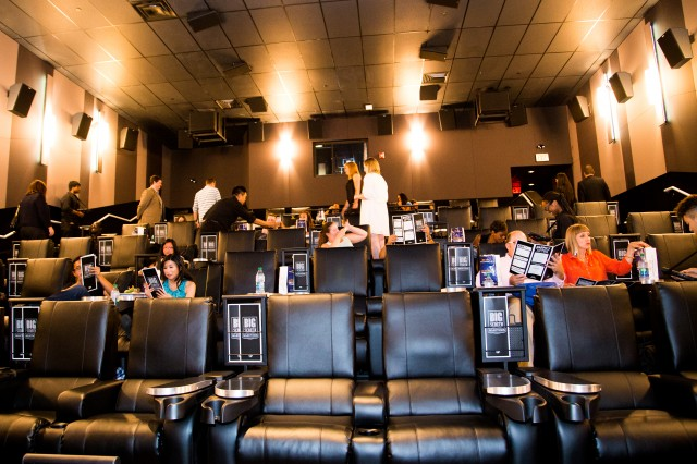 Cineplex VIP Shops at Don Mills auditorium leather seats