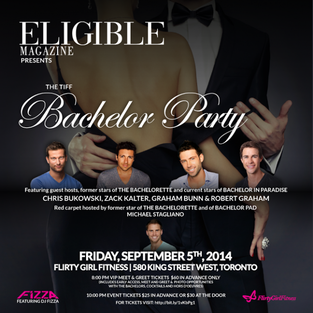 TIFF Bachelor Party 2014 Eligible Magazine win tickets