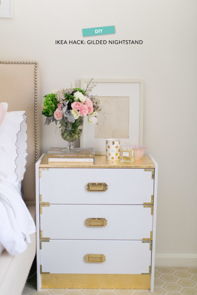 Campaign End Table Ikea Hack