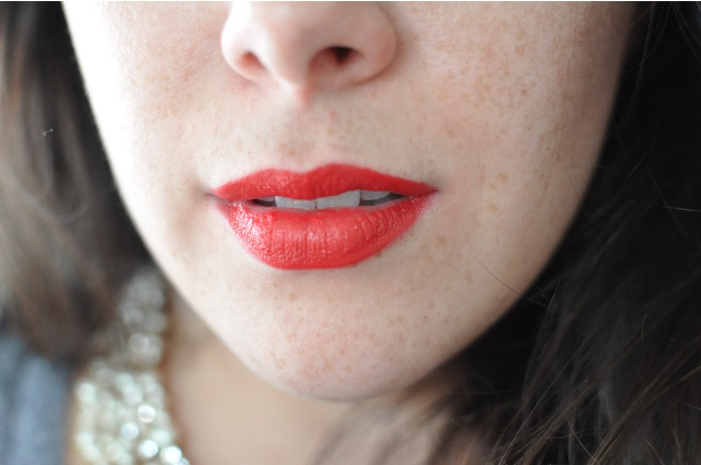 NARS Audacious lip colour- Annabella Swatch Review
