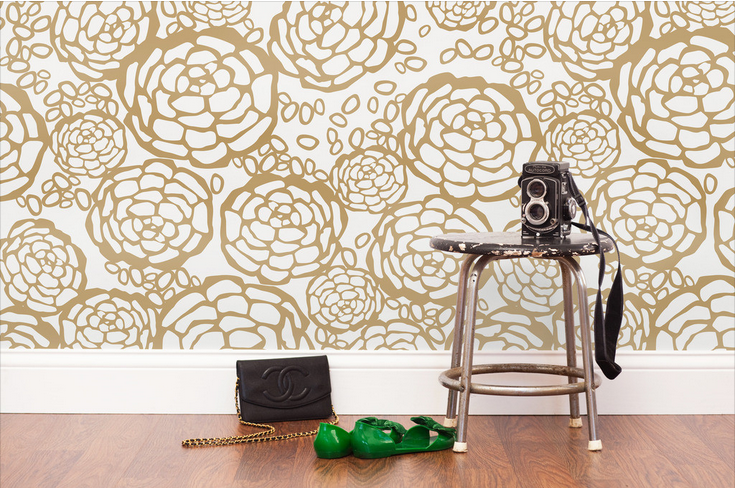Oh Joy Hygge & West Petal Pusher Gold Foil wallpaper