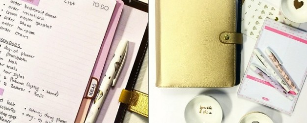 Best Online Stationery Gold Leather Planner kikki K review