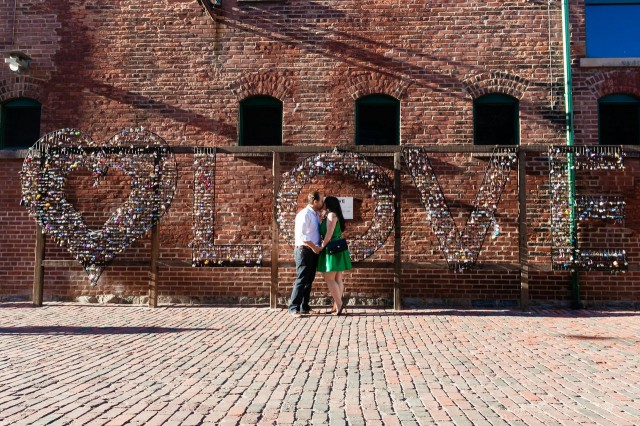 Distillery District Love Lock Engagement Shoot - Stephanie Fusco - 5ive15ifteen photo company