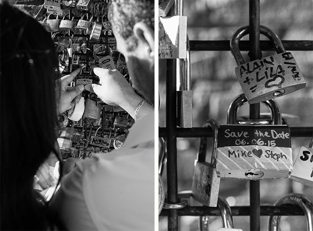 Distillery District Love Lock engagement save the date