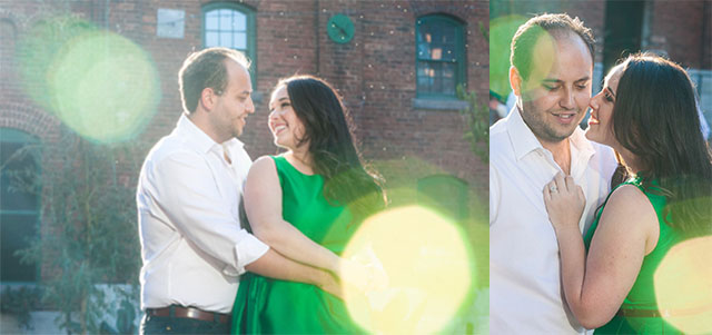 Distillery District Toronto Engagement Shoot - Stephanie Fusco Michael D'Amico