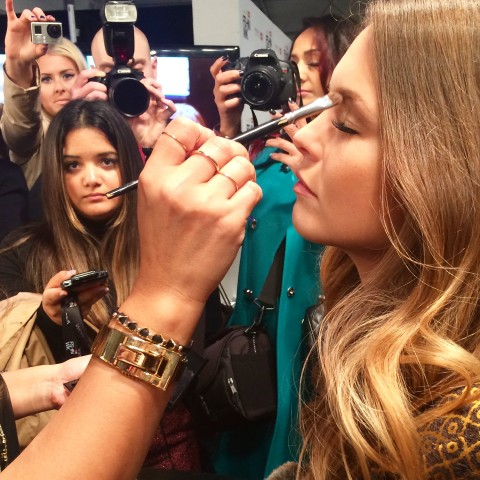Pink Tartan SS15 70s makeup look Grace Lee Maybelline