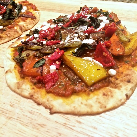 Roasted Vegetable Flatbread Chefs Plate Toronto