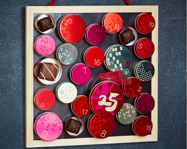 Starbucks Advent Calendar 2014