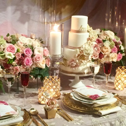 The Social Rose WedLuxe 2015 inspiration table