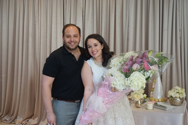 Stephanie Fusco & Michael D'Amico bridal shower flowers