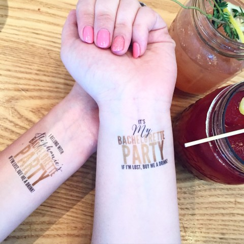 Love and Lions Bachelorette party tattoos