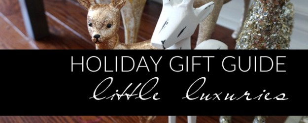 Holiday Gift Guide - Little Luxuries