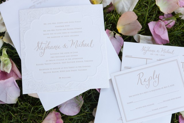 Stephanie Fusco Michael D'Amico Wedding Invitation
