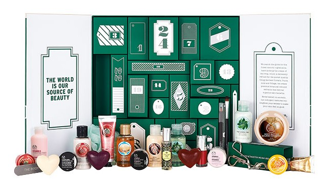 The Body Shop Advent Calendar 2015 holiday