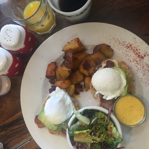Lady Marmalade Brunch - Brie Avocado Eggs Benedict