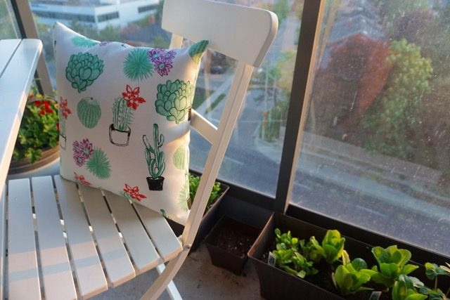 Canadian Tire CANVAS pillows IKEA Patio Set