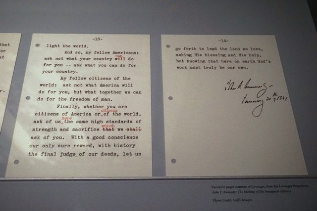 JFK Speech Boston Museum