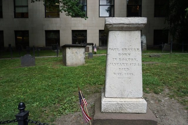 Paul Revere Grave Boston