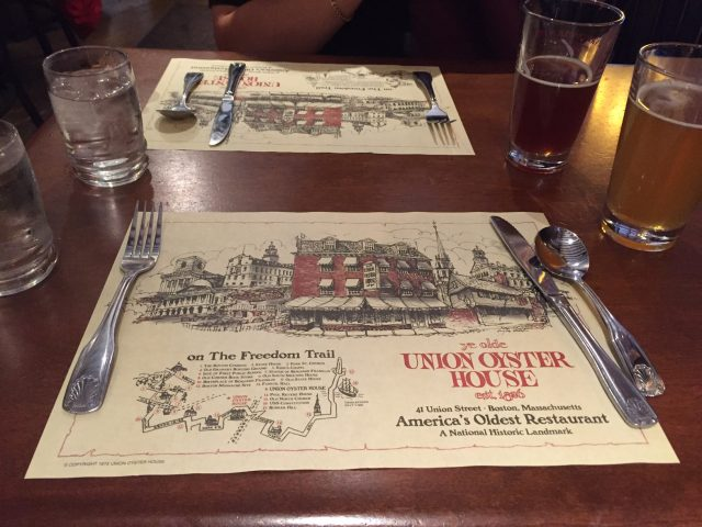 Union Oyster House Boston review visit recommendations restaurant
