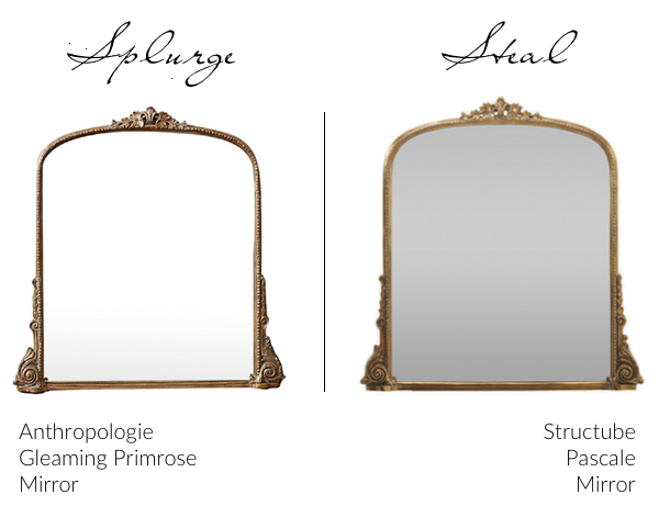 Anthropologie Primrose Mirror dupe Structube Pascale Mirror Canada
